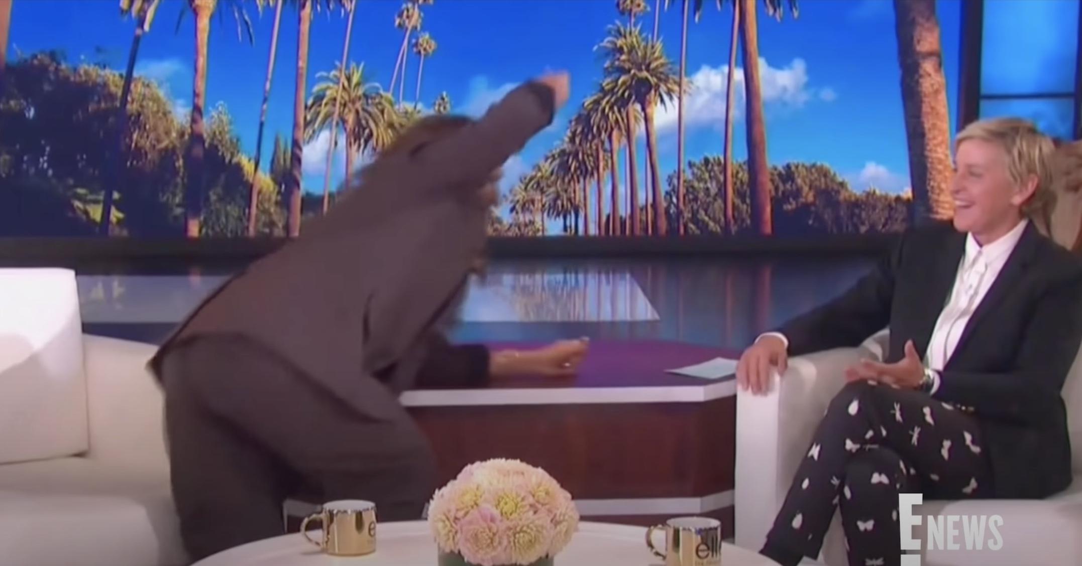 Leah Remini slaps Ellen after interview goes awry