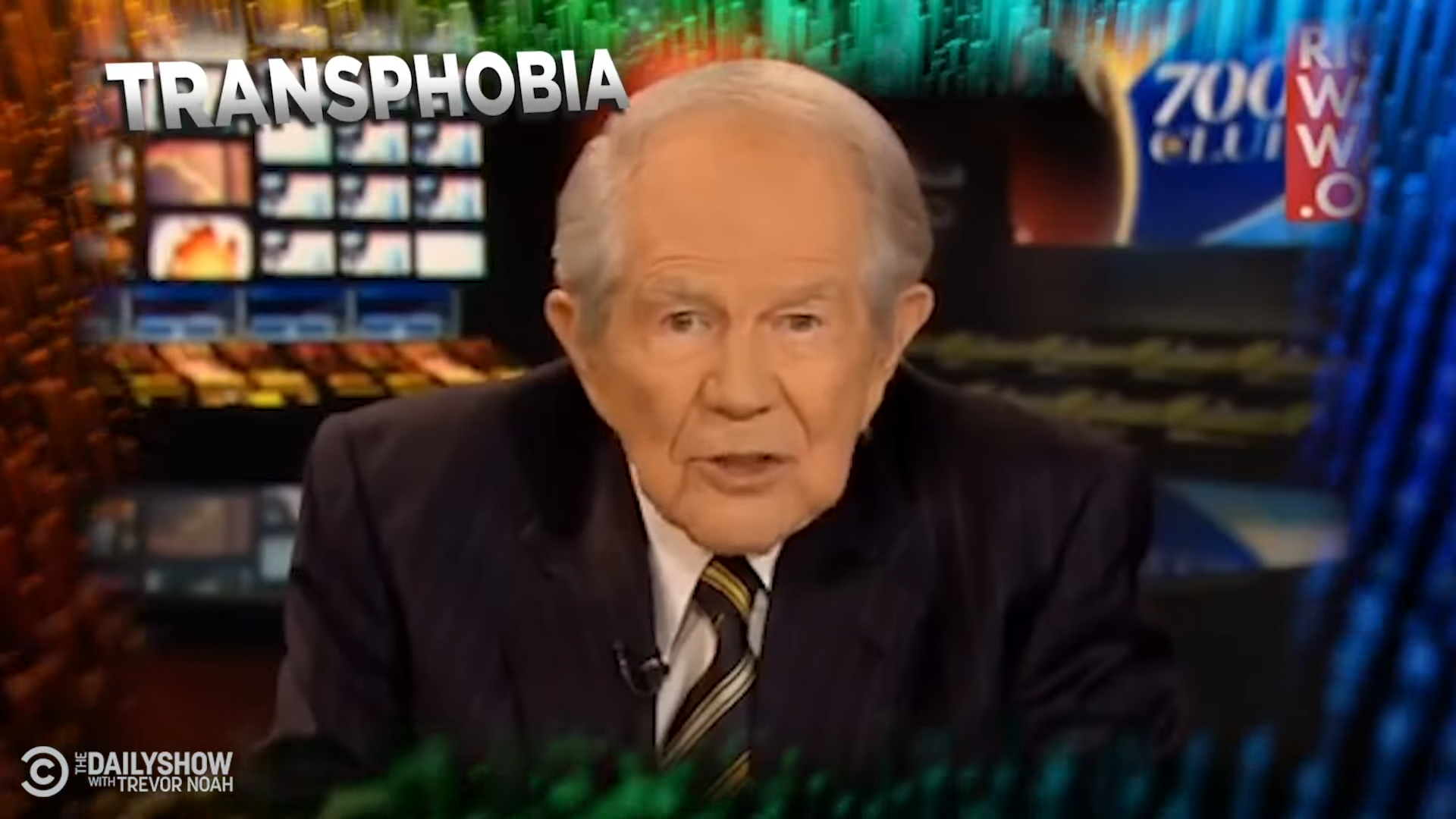 The Daily Show roasts Pat Robertson in tribute to televangelist's worst ramblings